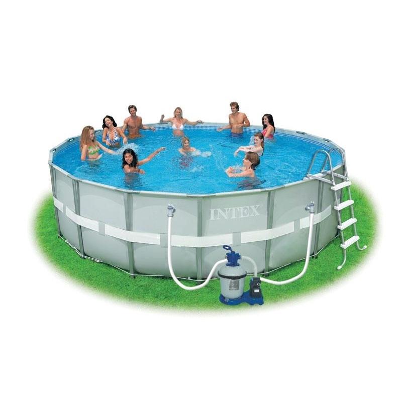 Bazén s rámovou konstrukcí