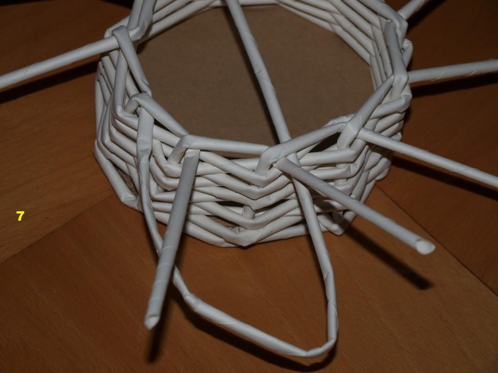 Pletení z papíru č. 7