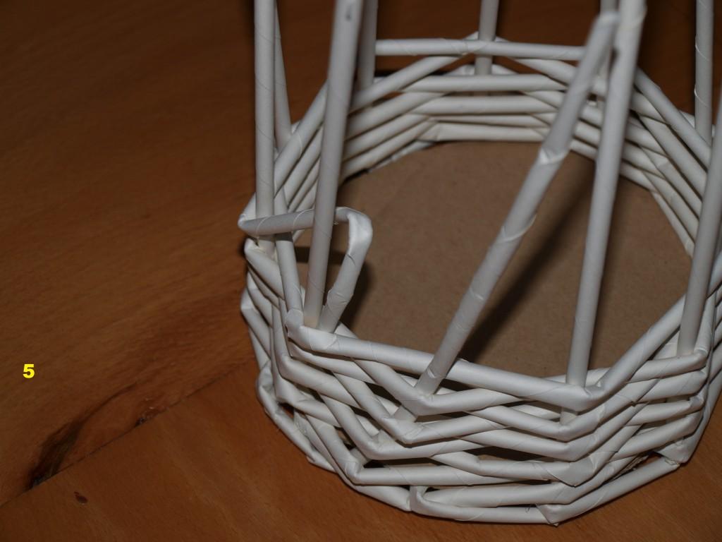 Pletení z papíru č. 5