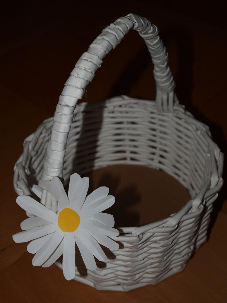 Pletení z papíru - košík