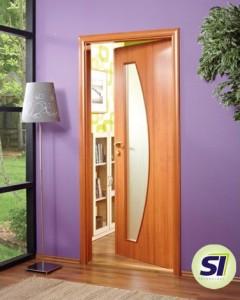 Interlignum foliované hladké dveře
