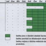 Dostupnost regionálních salátů