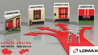 Předokenní rolety, žaluzie a garážová vrata české výroby, to je LOMAX