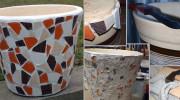 Vyrobte si květináč s mozaikou – originální bytový doplněk