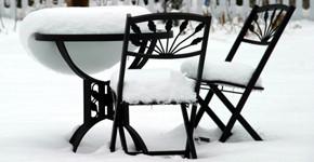 Zimování zahradního nábytku