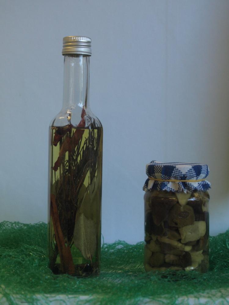 Domácí olej a houby