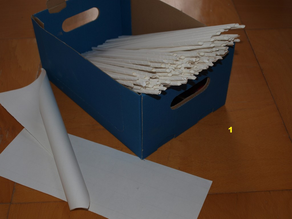 Pletení z papíru 1