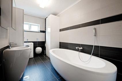 Moderní koupelna s obklady
