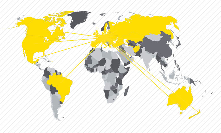 Mapa exportu MINIB