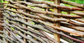 Jak vyrobit proutěný vyplétaný plot z vrby