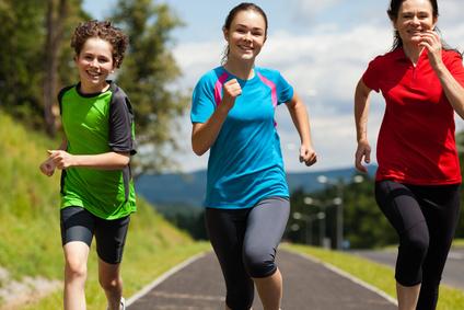 Aktivní rodina běhání