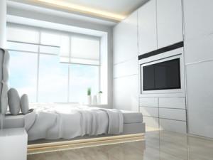 Bílá barva v ložnici