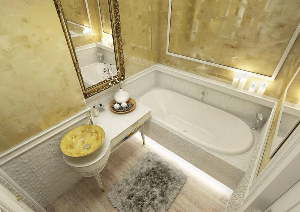 Velmi realistická digitální realizace koupelny.