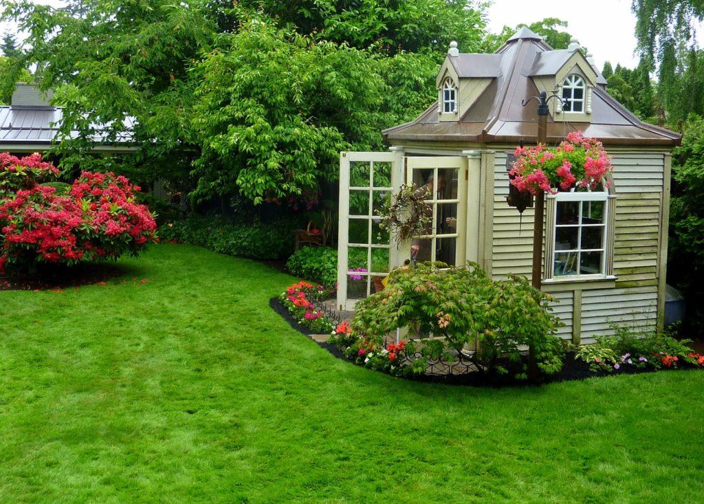 Zahradní domek v anglosaském stylu, nejspíše USA