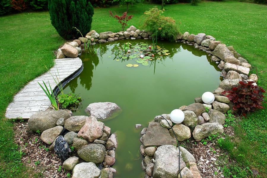 Klasické zahradní jezírko