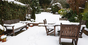 I v zimě může být zahrada krásná